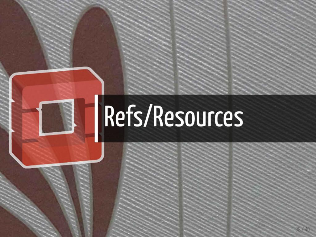 Refs/Resources 38 / 40