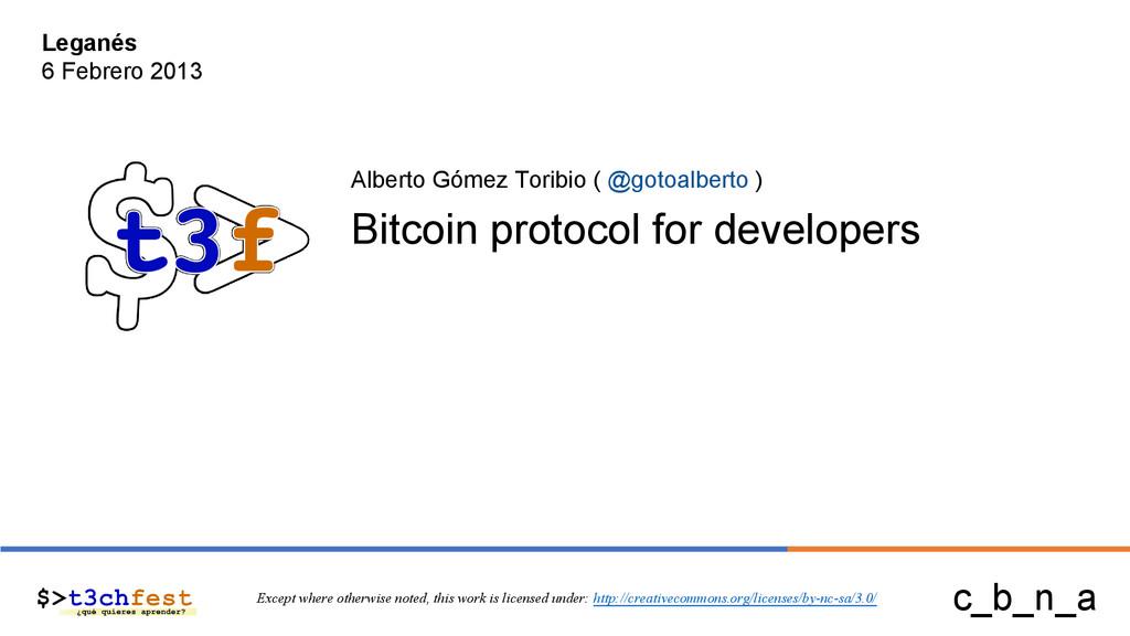 Alberto Gómez Toribio ( @gotoalberto ) Bitcoin ...