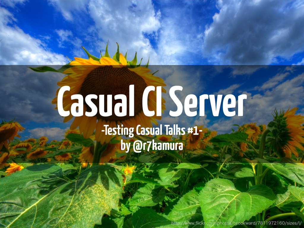Casual CI Server -Testing Casual Talks #1- by @...