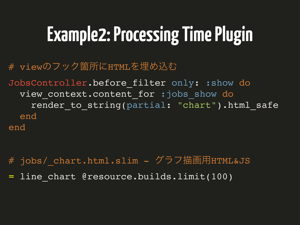 Example2: Processing Time Plugin # viewͷϑοΫՕॴʹH...