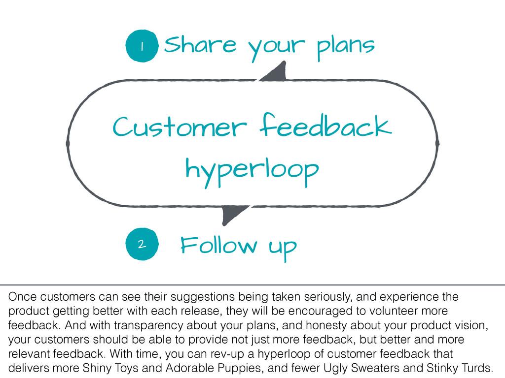 Customer feedback hyperloop Share your plans 1 ...