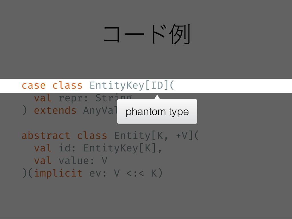 ίʔυྫ case class EntityKey[ID]( val repr: String...