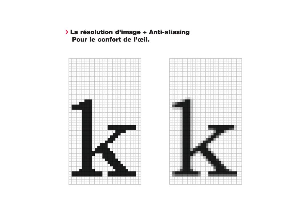 › La résolution d'image + Anti-aliasing Pour le...