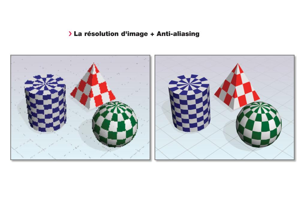 › La résolution d'image + Anti-aliasing