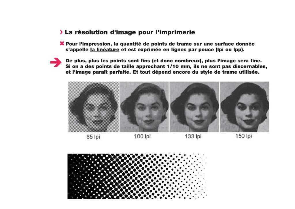 › La résolution d'image pour l'imprimerie 6 Pou...