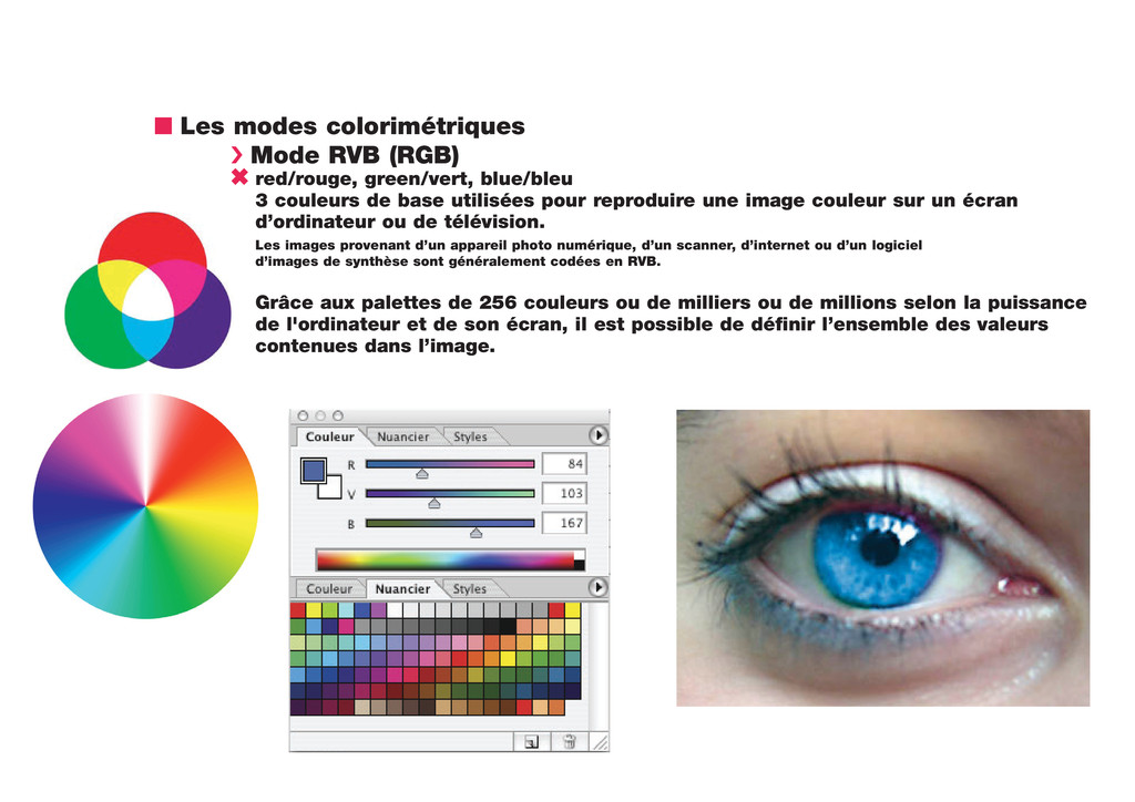 n Les modes colorimétriques › Mode RVB (RGB) 6 ...