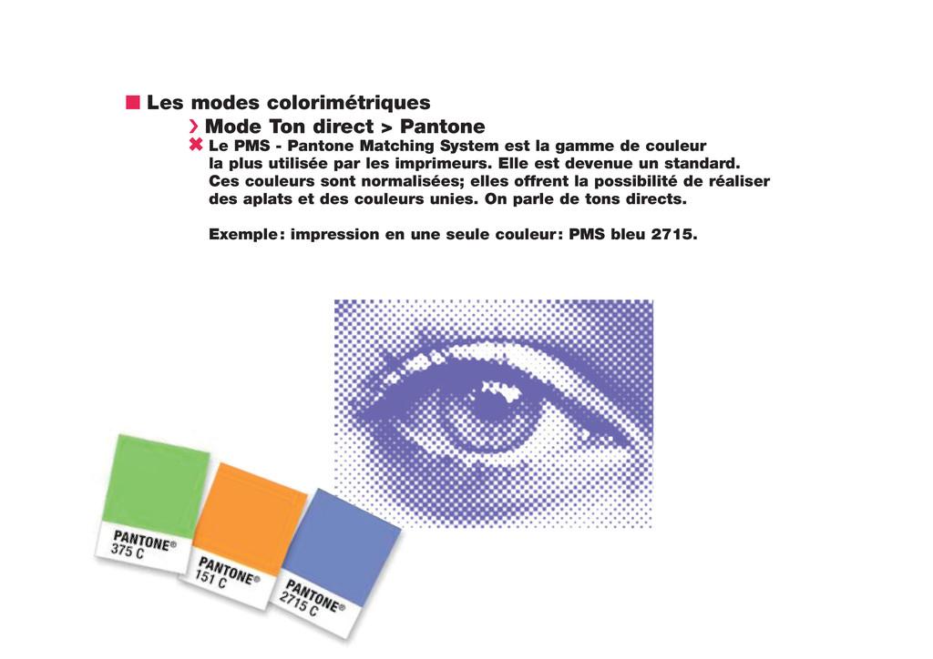 n Les modes colorimétriques › Mode Ton direct >...