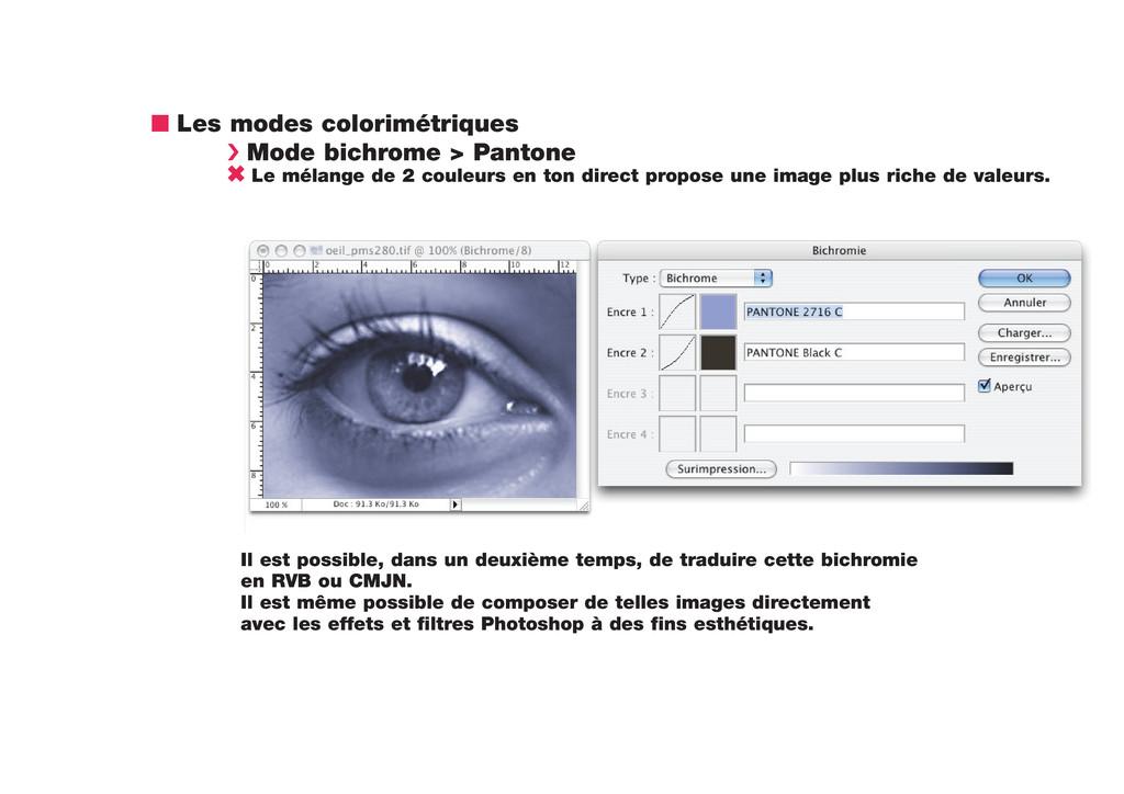 n Les modes colorimétriques › Mode bichrome > P...