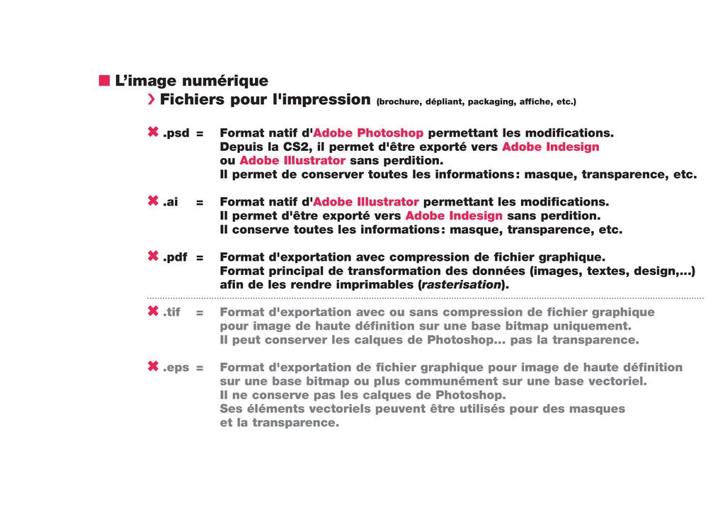 n L'image numérique › Fichiers pour l'impressio...