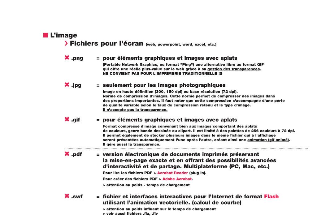 n L'image › Fichiers pour l'écran (web, powerpo...