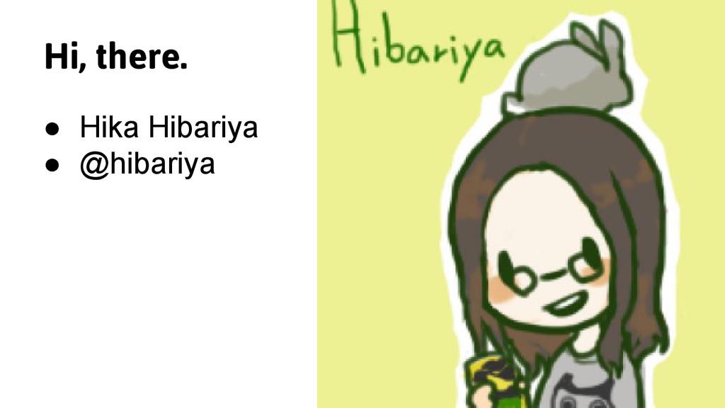 Hi, there. ● Hika Hibariya ● @hibariya