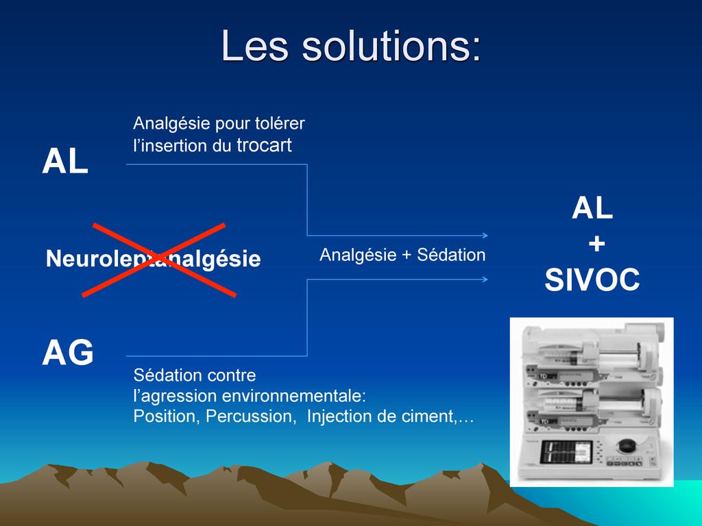 AL AG AL + SIVOC Analgésie pour tolérer l'inser...