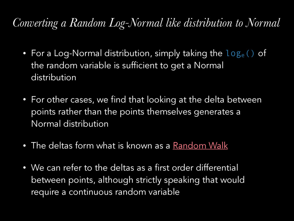Converting a Random Log-Normal like distributio...