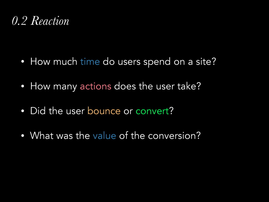 0.2 Reaction • How much time do users spend on ...
