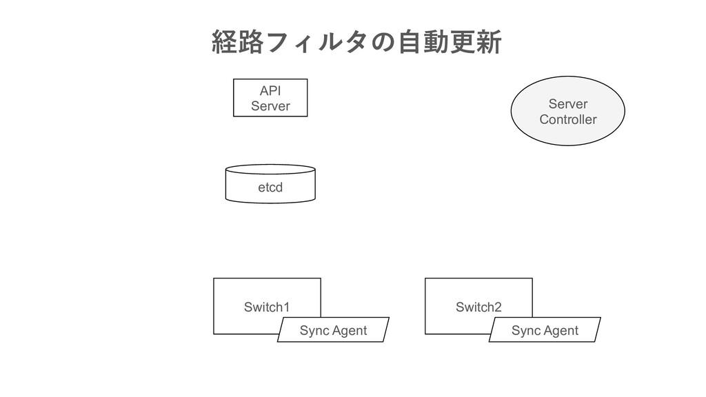 API Server Switch1 etcd Server Contr...