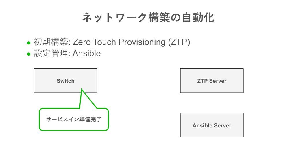 Switch ZTP Server Ansible Server l   : Zero T...
