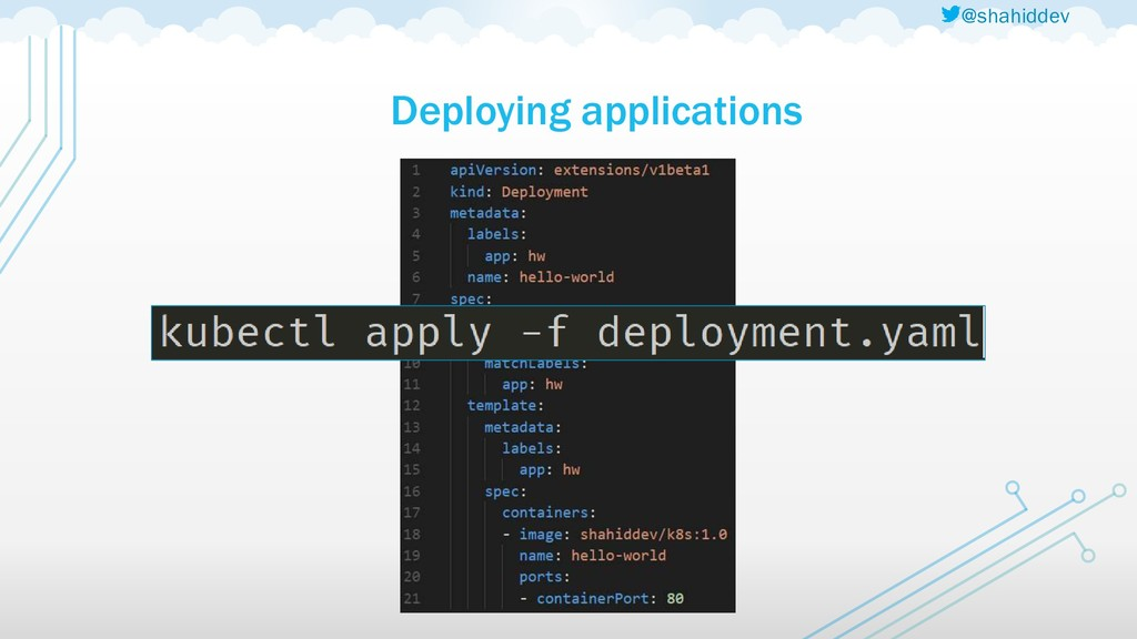 @shahiddev Deploying applications