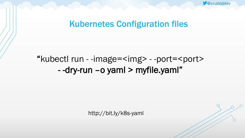 """@shahiddev Kubernetes Configuration files """"kube..."""