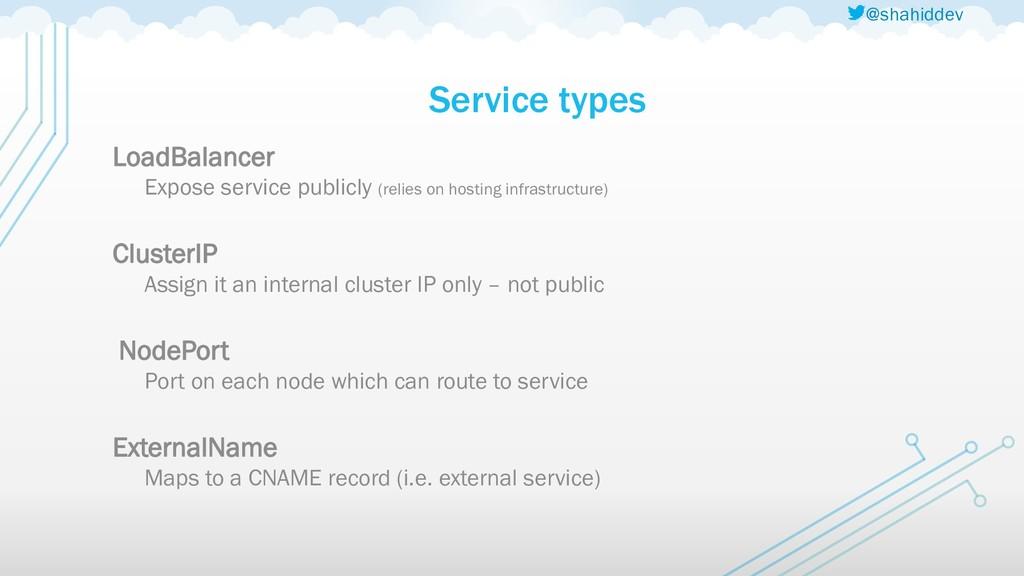 @shahiddev Service types LoadBalancer Expose se...