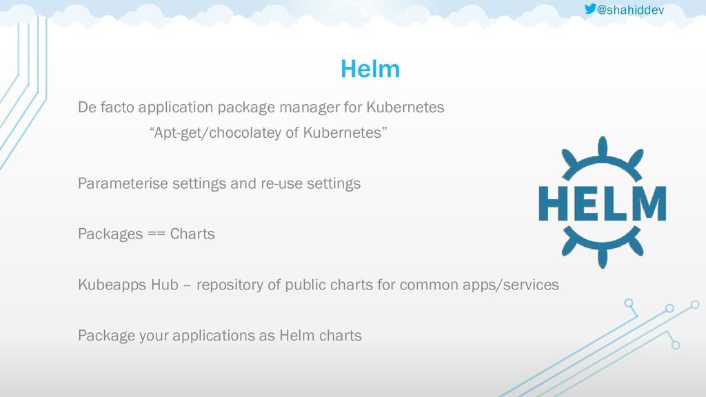 @shahiddev Helm De facto application package ma...