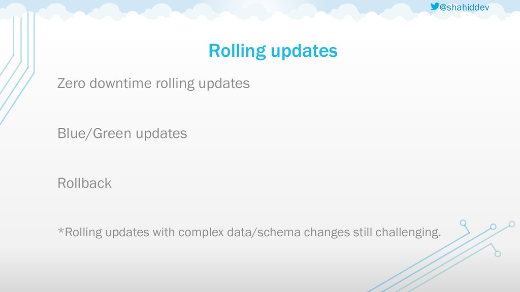 @shahiddev Rolling updates Zero downtime rollin...