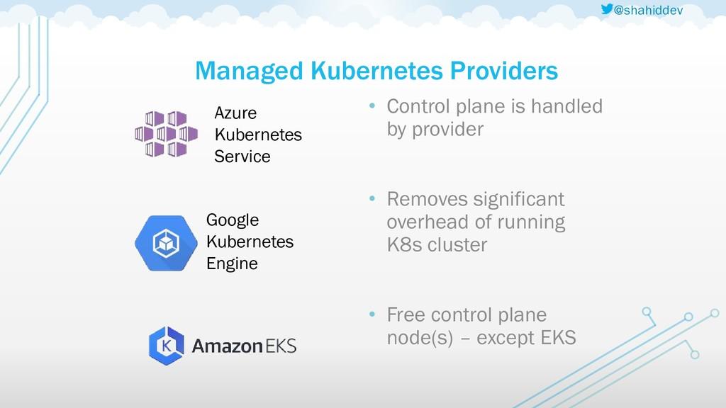 @shahiddev Managed Kubernetes Providers Azure K...