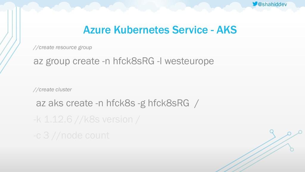 @shahiddev Azure Kubernetes Service - AKS //cre...