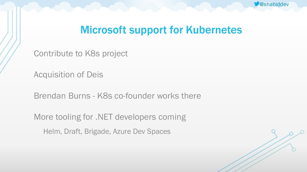 @shahiddev Microsoft support for Kubernetes Con...