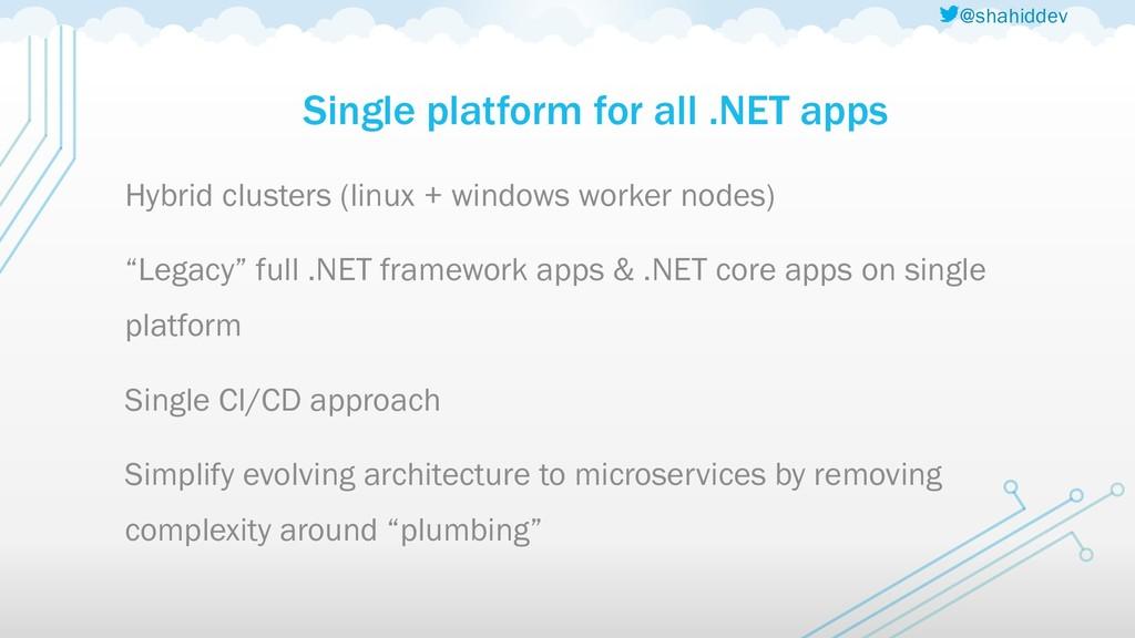 @shahiddev Single platform for all .NET apps Hy...