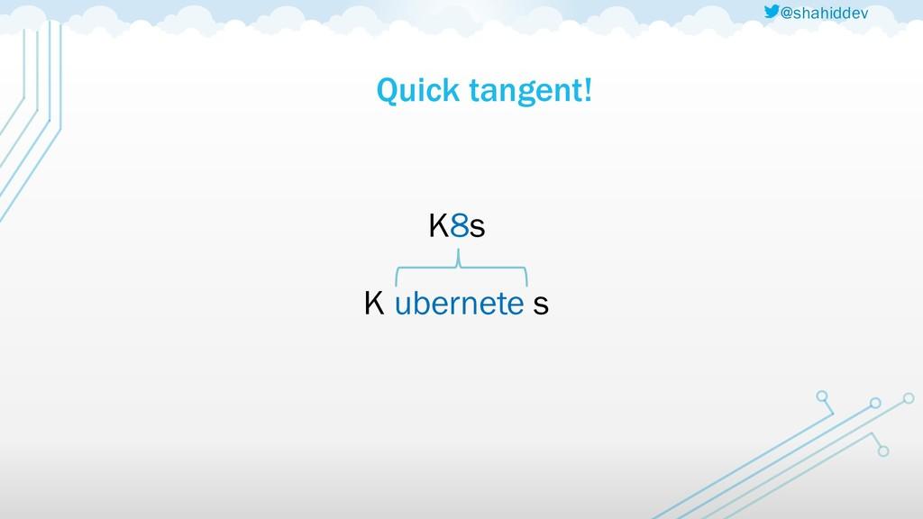 @shahiddev Quick tangent! K8s K ubernete s