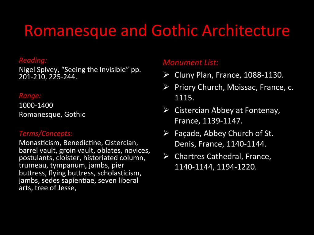 Romanesque and Gothic Architecture ...