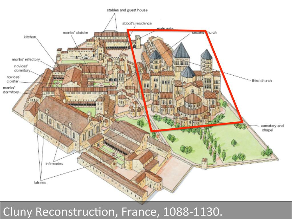 Cluny ReconstrucGon, France, 1088-‐11...