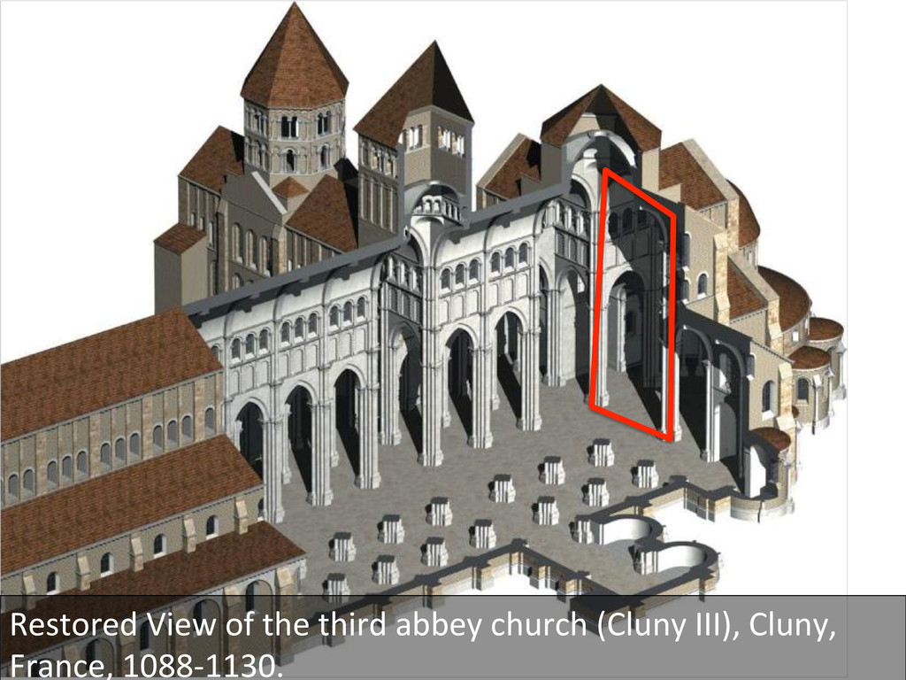 Restored View of the third abbey...