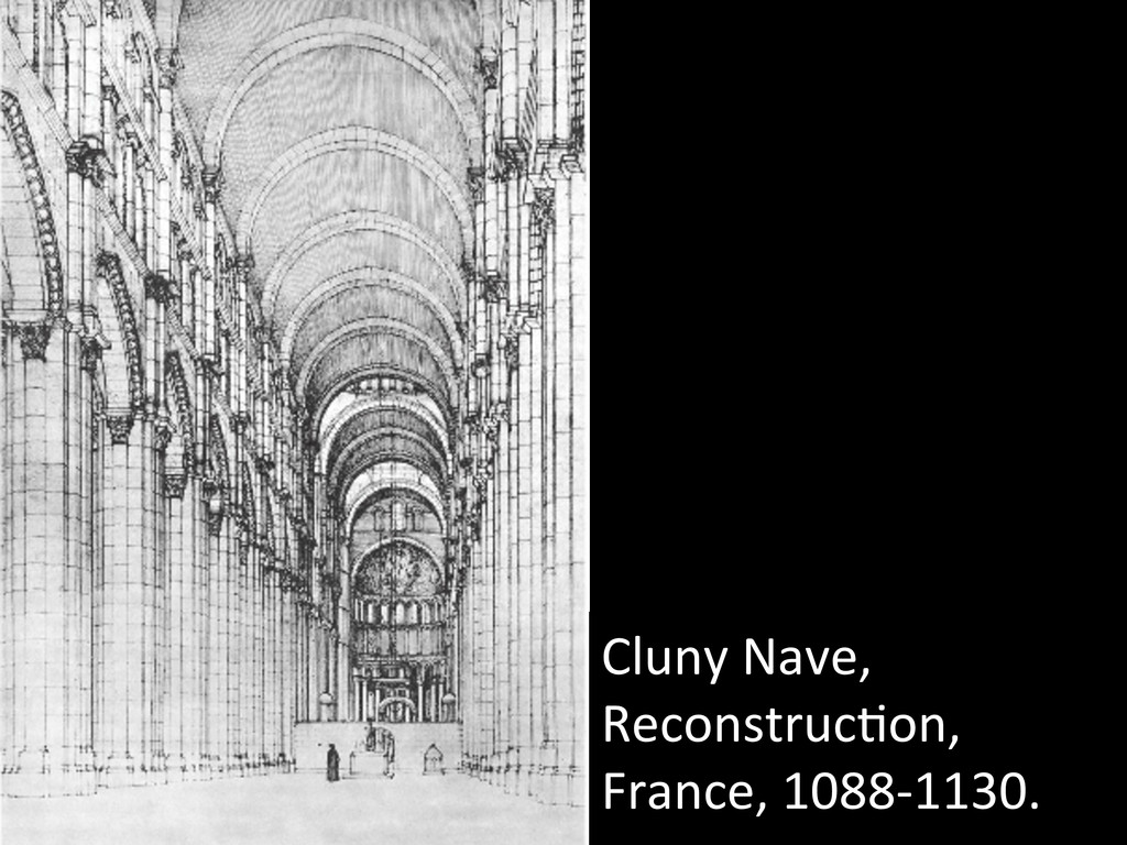 Cluny Nave,  ReconstrucGon,  France,...