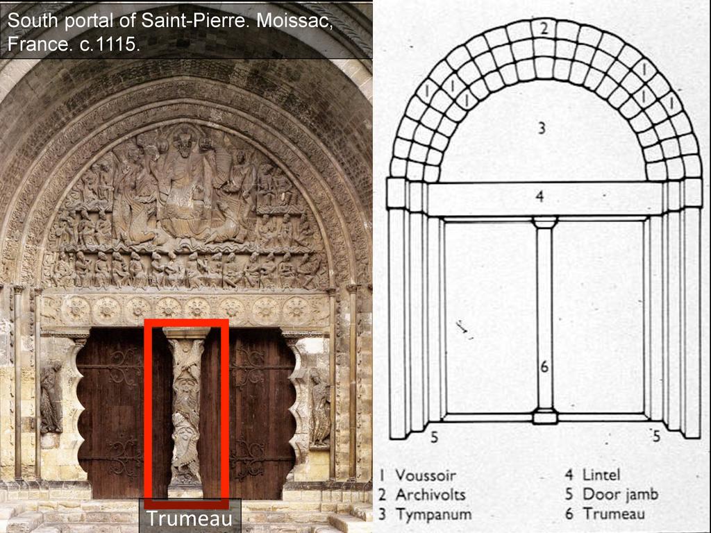 Trumeau  South portal of Saint-Pierre. Moiss...