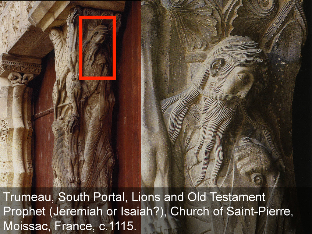 Trumeau, South Portal Lions and Old Testament P...