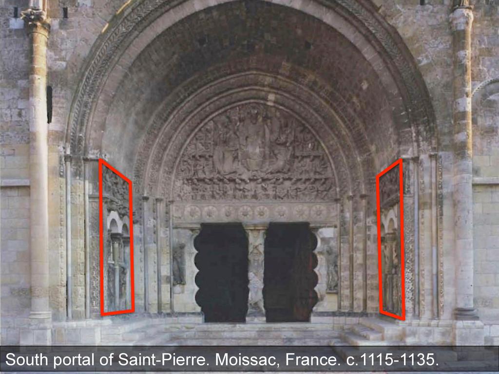 South portal of Saint-Pierre. Moissac, France. ...