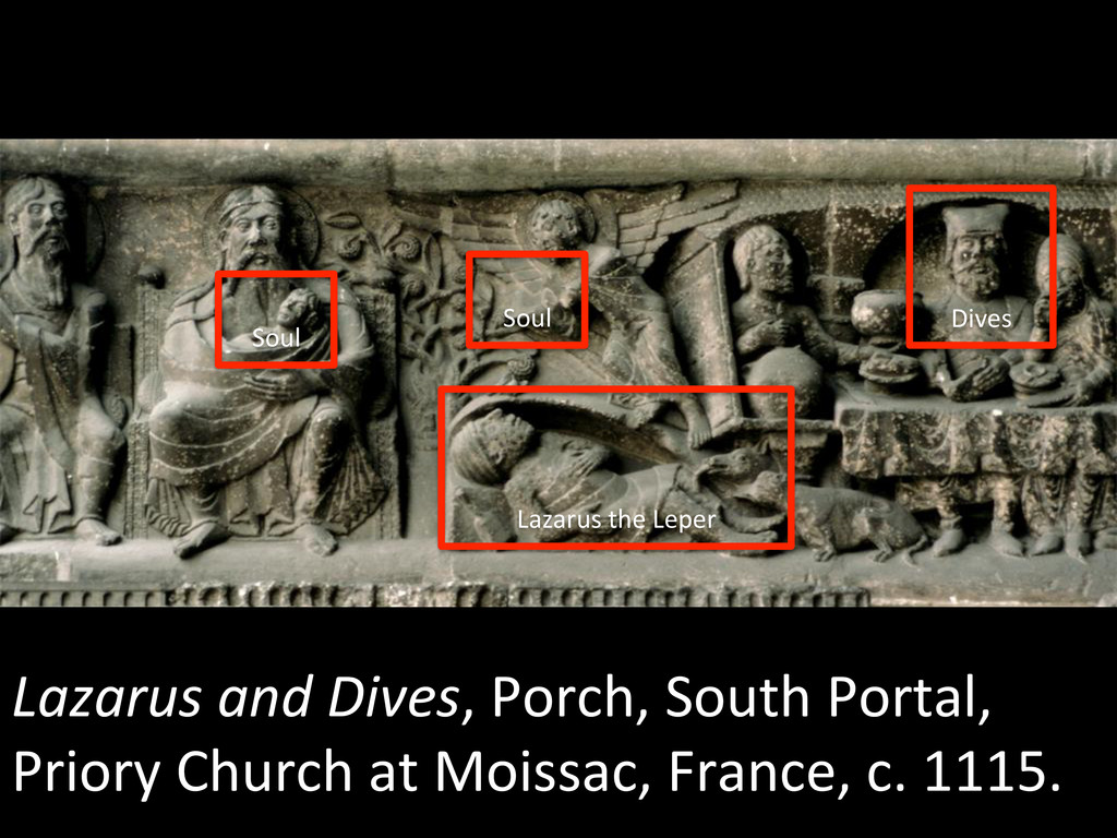 Lazarus and Dives, Porch, South ...