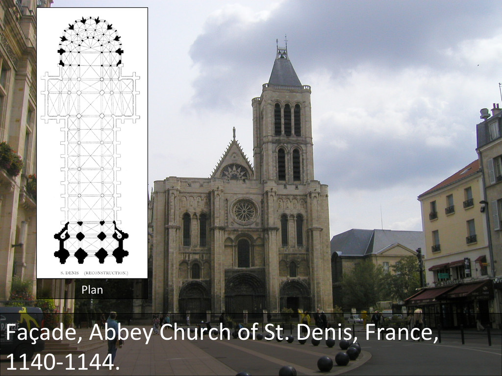 Façade, Abbey Church of St. Deni...