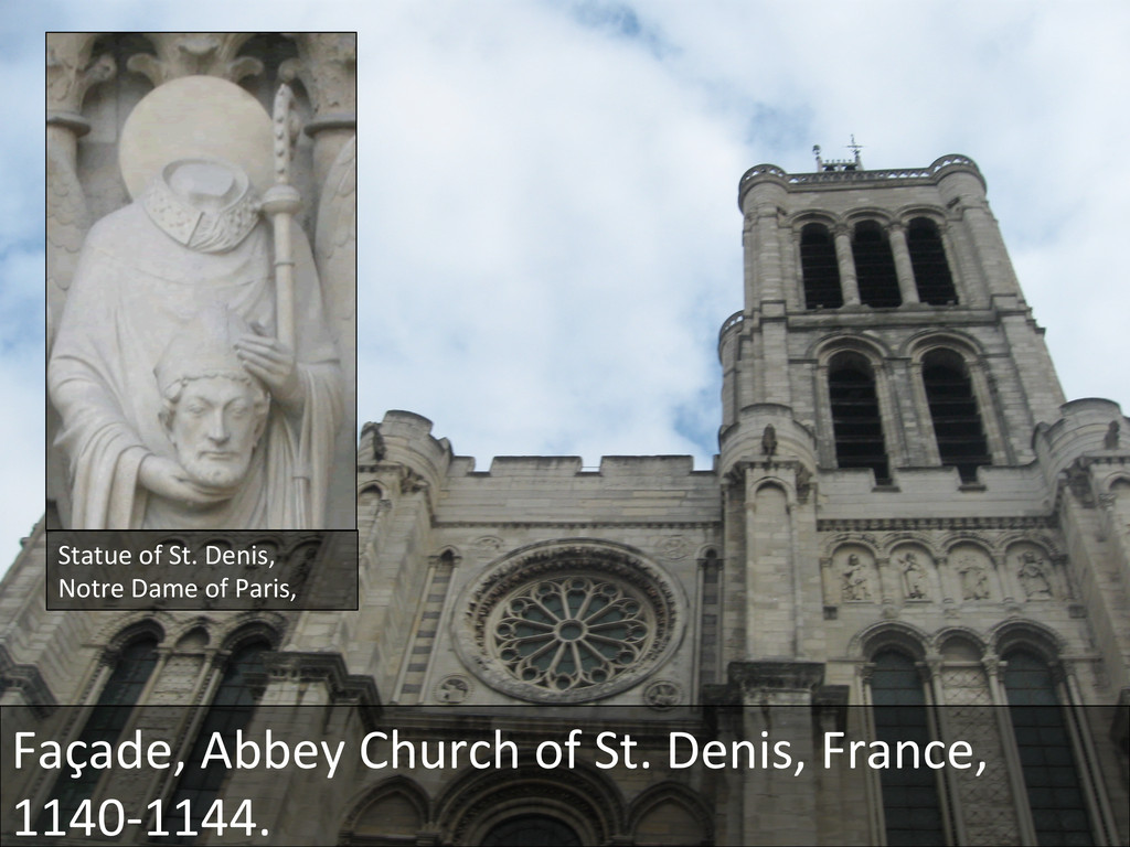 Statue of St. Denis,  Notre Dame...