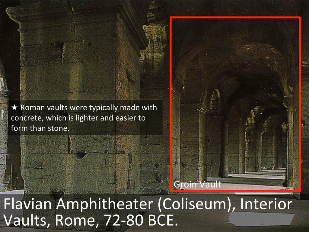 Groin Vault  Flavian Amphitheater (...