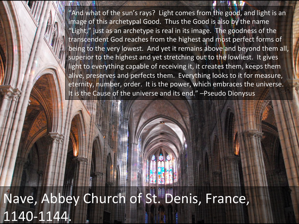 Nave, Abbey Church of St. Denis,...