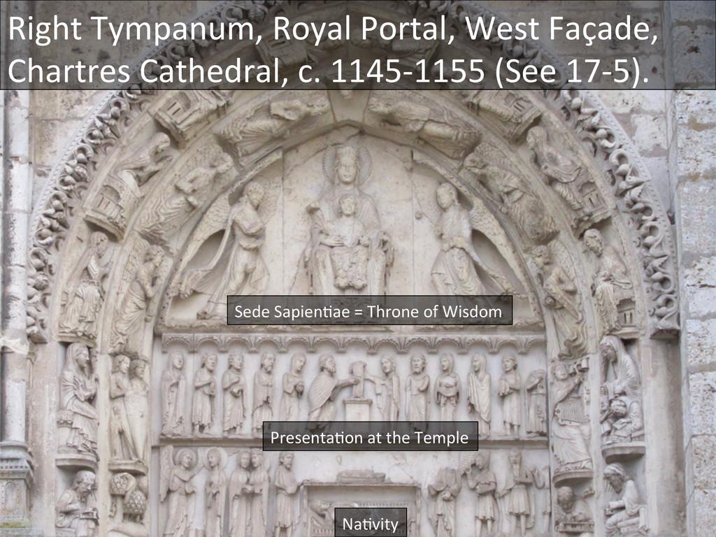 Right Tympanum, Royal Portal, West...
