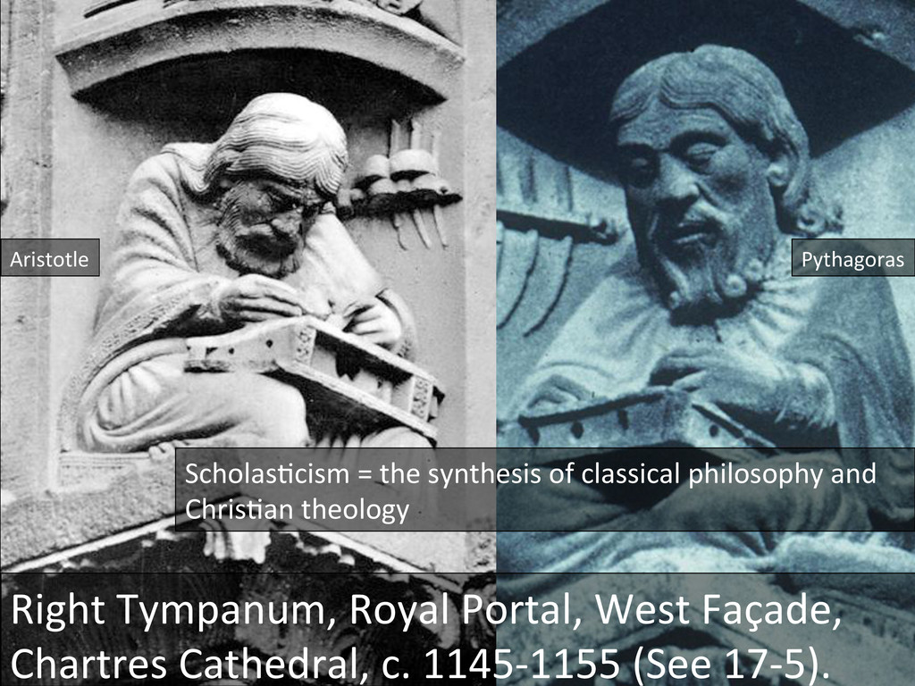 Aristotle  Pythagoras  Right Tympanum,...