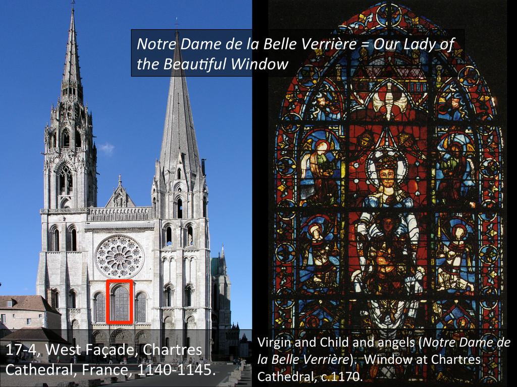 17-‐4, West Façade, Chartres  Cath...