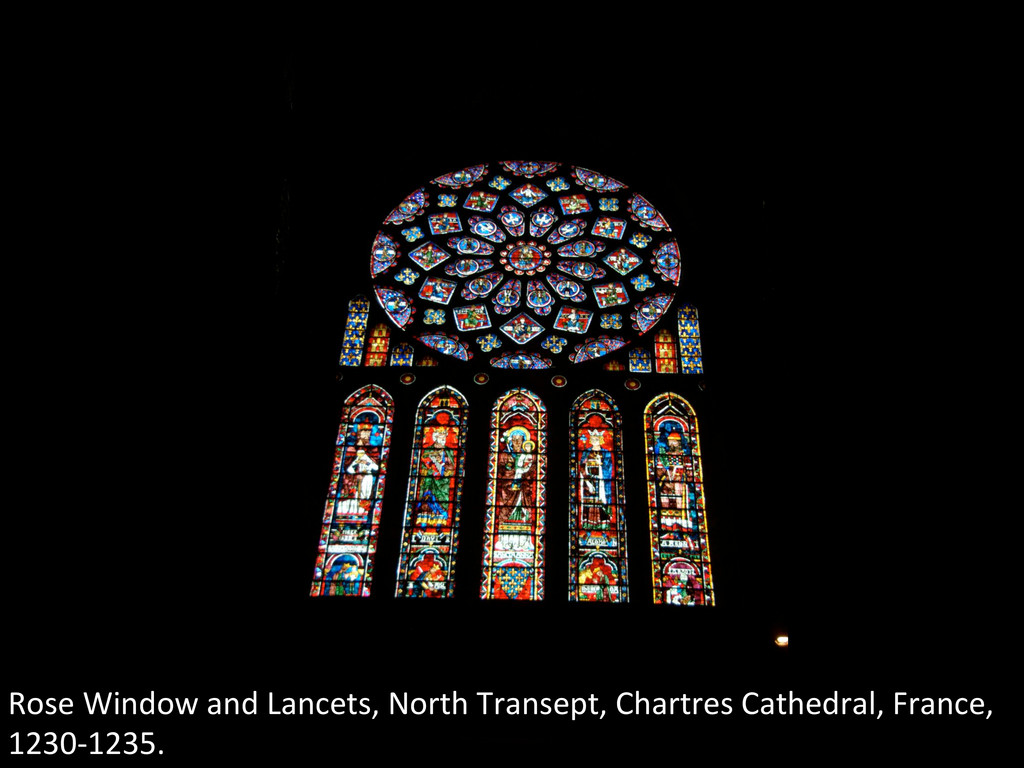 Rose Window and Lancets, North T...