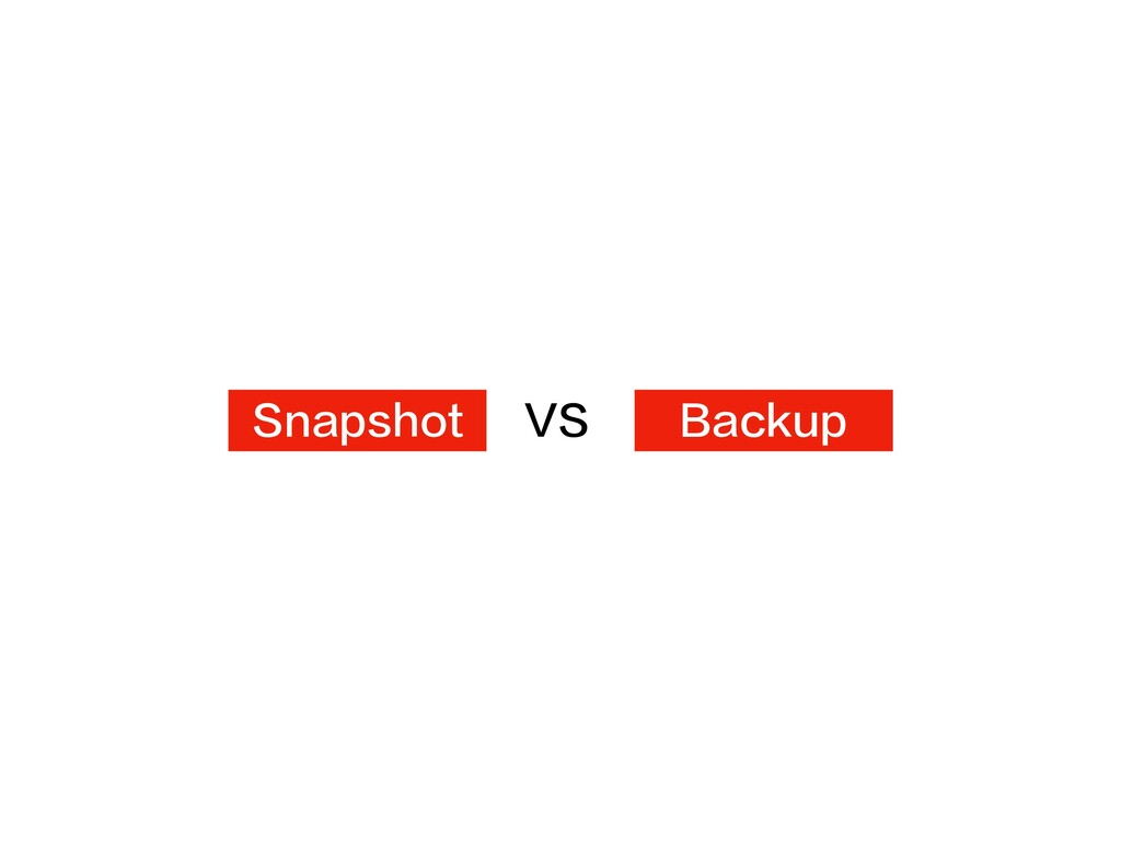 Snapshot Backup VS