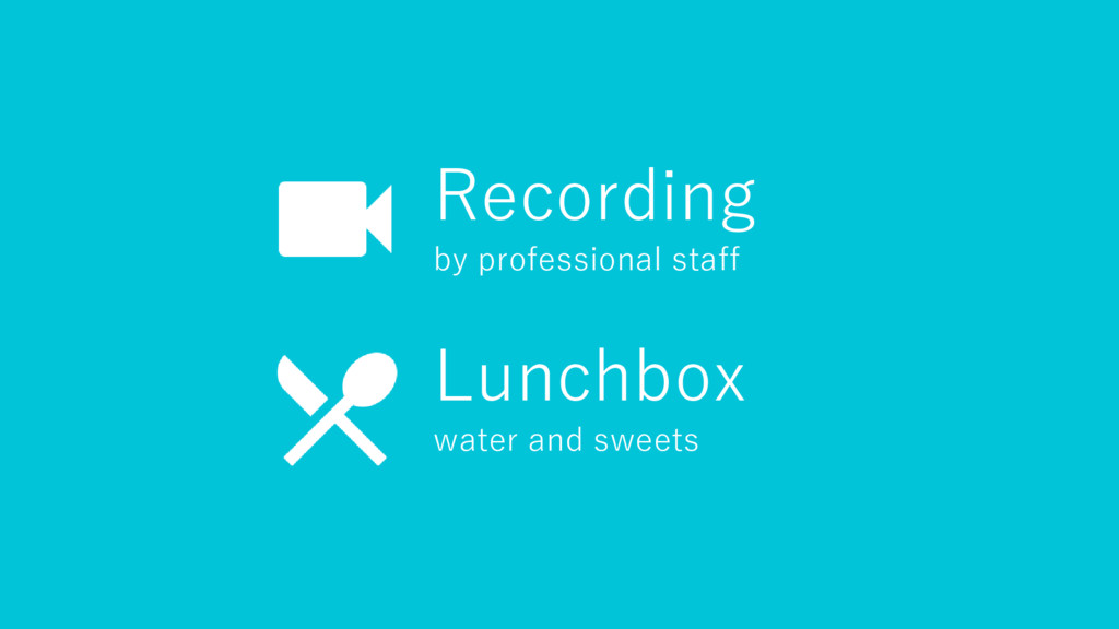 Recording by professional staff Lunchbox water ...
