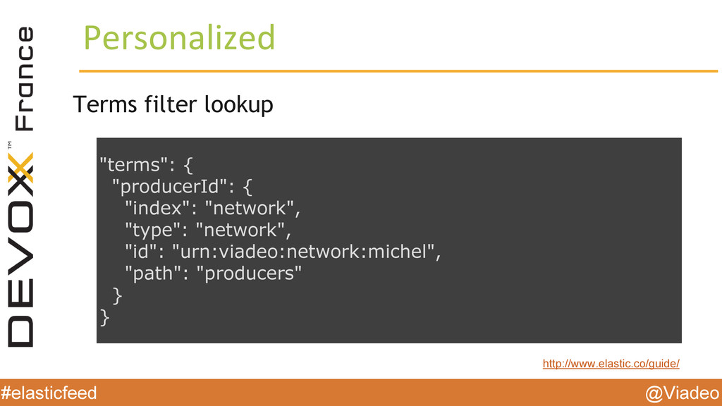 @Viadeo #elasticfeed Personalized Terms filter ...