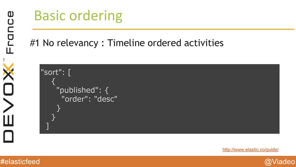 @Viadeo #elasticfeed Basic ordering #1 No relev...
